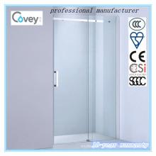 Bathroom Sliding Shower Screen with 304#Stainless Steel Bar (AKW04-D)