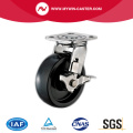 Geremde PU plaat Swivel RVS Caster