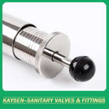 Sanitary regulating ball type safety control valve