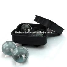 Bandejas de cubitos de hielo para moldes de bolas de hielo de silicona fabricadas en China