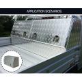 Caja de herramientas de aluminio de la puerta de acceso de la columna de acceso de gas doble a prueba de agua