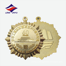 China manufacturer casting sandy effect full gold medal for sales