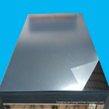 Hoja de espejo PMMA Perspex acrílico plateado / dorado