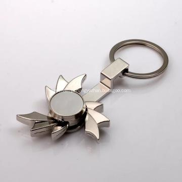 Metal Fidget Mão Spinners com KeyChain