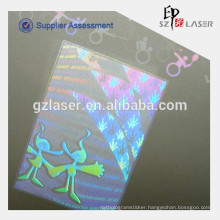 Custom Hologram Pouch for Laminating Printed Teslin Paper