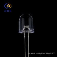 Luminosité de haute qualité ronde 10mm led IR 940nm eau claire