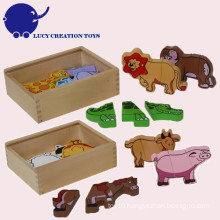 Wooden Animal Farm Magnetic Puzzle Toy