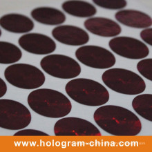 Red Laser Security Hologram Label Printing