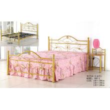 Золотая роскошная металлическая плоская кровать (608-A #)
