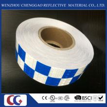 Matériau réfléchissant de PVC de conception de grille de deux couleurs de véhicule