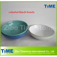 8 polegadas coloridas cerâmica grés Bowl