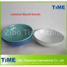 Цветной 8 дюймов керамические керамические чаши