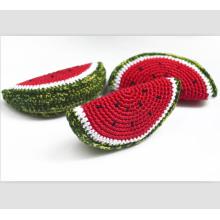 Crochet Watermelon slice Crochet toy Teething Toy Pretend food Crochet vegetables Crochet fruits Pretend play Nursery decor Kids