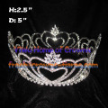 Big Heart Shaped Round Pageant Crowns