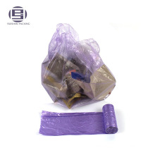 Сильный черный переработанных отходов ПЭТ пластиковые мешки отброса на крене