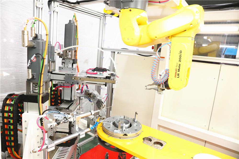 stator wire binding machine