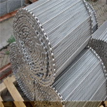 Banda transportadora de malla de alambre de acero inoxidable para la entrega de alimentos