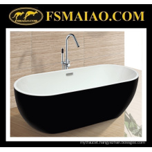 Unique Design Acrylic Bathtub Thin Edge Black & White (9006)