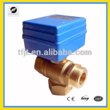 Válvula motorizada DC5V, DC12V de 3 vías con color greg