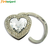 Professional for Rhinestone Heart Bag Hanger Diamond Cute Heart Bag Hanger supply to Spain Exporter
