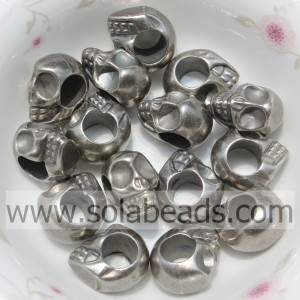 Hot Sell 9*13MM Skull Shape Acrylic Crystal Acrylic Beads
