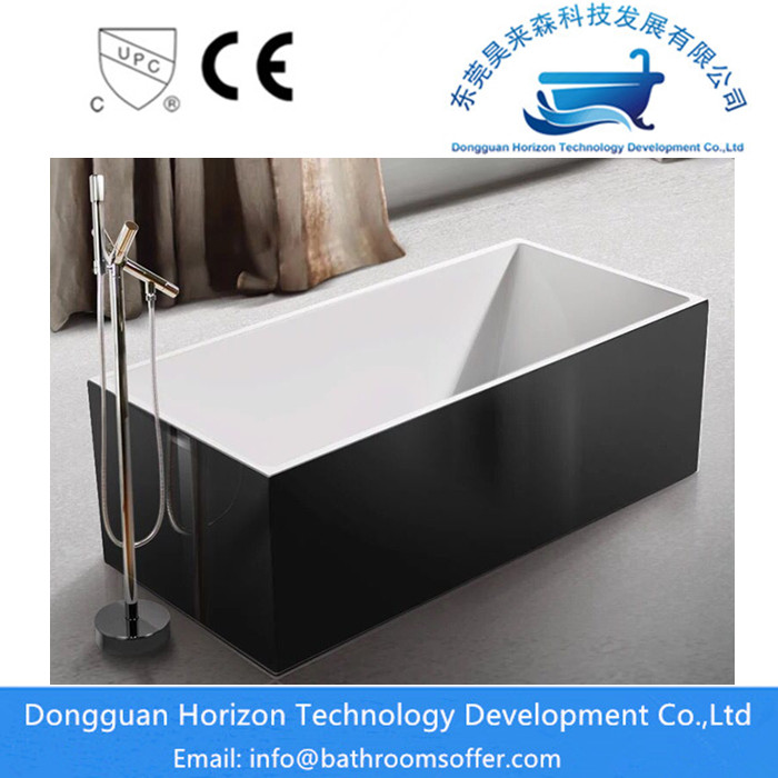 Black Square Bathtub