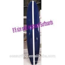 8'8 size solid longboard gloss finish Surfboards blue surfboards epoxy~~!