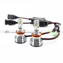 Super Bright H8 6000lm 9V 32V F2 Car LED Headlight CR CSP 6500K 24W Pure White Single Beam Easy to install