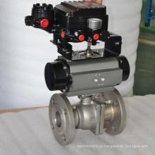 válvula de controle pneumática da esfera da flange ss304 com a válvula de pressão do relevo do filtro de ar
