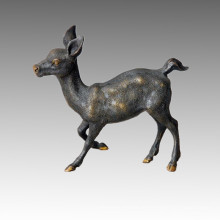 Статуэтка животного латуни с оленьей бронзовой скульптурой Tpal-031