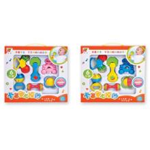 Umweltfreundliche Kunststoff 6PCS Baby Handbell Babyrassel (10220309)