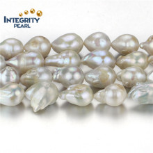 Pearl Fabricant Freshwater Pearl Strand 15mm Grade a + Nucleated Genuine Pearl Strand