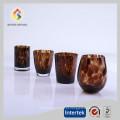 venda quente de cristal copos de vinho com estampa de leopardo