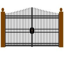 Изготовленный На Заказ Покрынный Порошок Плоский Верх Алюминиевый Двойной Качели Ворота