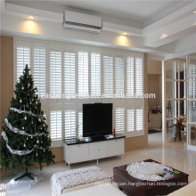 Waterproof Fauxwood Sliding Window Adjustable Louver Shutters
