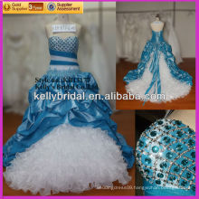 Turquoise blue kingly formal eveing dress