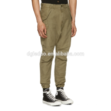 Pantalones de carga ajustados al por mayor de 10 bolsillos Pantalones cargo de sarga de algodón