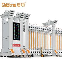Hot Motorized Standard Sliding Gates Commercial Factory Entrance Automatic Fence Gate Retractable Aluminum Alloy