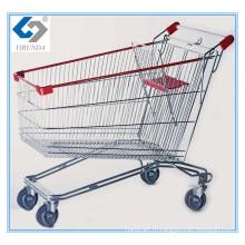 210Л Русский стиль ручной тележке с большой емкостью для супермаркета