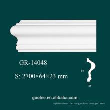 Environmental Architectural Dekorative PU White Panel Molding