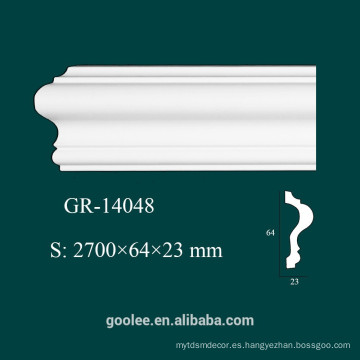Moldura decorativa arquitectónica decorativa del panel de la PU blanca
