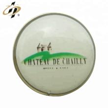 Selo de ferro personalizado impressão de metal ímã botão crachá pin