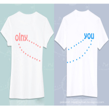 2016 Fashion Love Couple Bulk Blank Custom Couple T Shirt