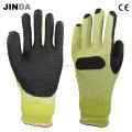 Rubber Sheet Coated Mechanics Stainless Steel Gloves (R003)