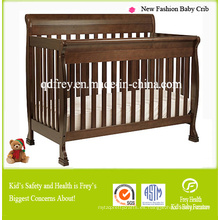 Nuevo muebles de madera sólida de madera de pino de cama cuna