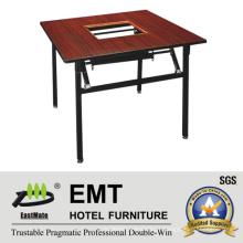 Mesa de jantar de design simples especial para o prato Chaffy (EMT-FT621)