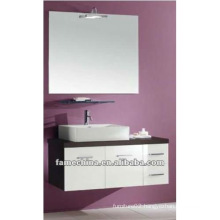 New White+Dark Brown wall-hung bathroom cabinet/vanity/furniture