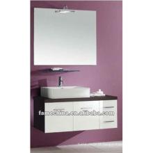 New White + Dark Brown armário de parede suspenso / vaidade / mobiliário