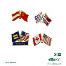 Pino de Lapela de Esmalte Macio de Combinação de Bandeiras Nacionais
