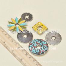 anilla de flores para broches metal scrapbook